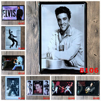 aluminum street rods - Hot quot Elvis Presley quot vintage tin sign street rod retro mural poster metal painting home decor x30 CM