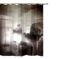 Wholesale 180x200cm Natural Scenery Cloud Shower Curtain Bathroom Waterproof Fabric