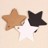 Wholesale Kraft stars Favor Paper Gift card prices white brown lage labels label colors