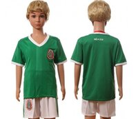 Wholesale TOP Thai AAA Grade CHICHARITO Mexico jersey green Mexico soccer jersey Mexico football soccer kids suit kit