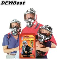 Wholesale hot selling fire save type fire escape mask gas mask smoke respirator mask luminous
