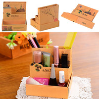 bars sundries - Makeup Cosmetic Organizer DIY Paper Board Storage Box Desk Decor Stationery E00214 BAR