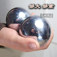 Wholesale Long proud day clock Baoding iron ball fitness solid handball about pounds a pair of large fitness ball presale
