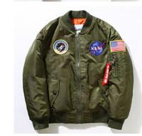 air force baseball - New Flight Pilot Jacket Men Bomber Ma1 Men Bomber Jacket Nasa Air Force Embroidery Baseball Military Thin Section Jacket S XXL