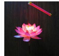2014 nouveau plastique lampe lanterne de lotus LED pour la décoration maison 002 couleurs lanterne lampe lanterne