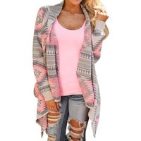 aztec sweater coat - Women Long Cardigan Autumn Winter Long Sleeve Trendy Poncho Knitted Sweater Cardigans Casual Aztec Striped Print Tops Coat