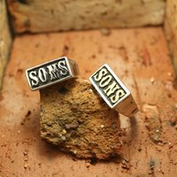 band of boys - Mens Boys L Stainless Steel Mens Golden Silver SONS Biker Cool Sons of Anarchy Ring