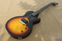 Wholesale New brand electric guitar tobacco burst Junior model see thru brown back high quality