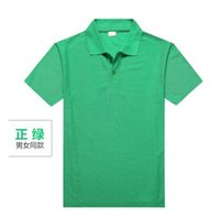 advertisement printing - Pure Color High quality Polo Shirt Polos Advertisement T shirts Work Clothes Short sleeved Cotton Lapel Printing LOGO Polo Tees Polos