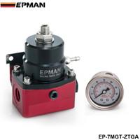 Wholesale EPMAN Racing Sport Adjustable Car New AN JDM Adjustable Black Red Fuel Pressure Regulator PSI EP MGT ZTGA