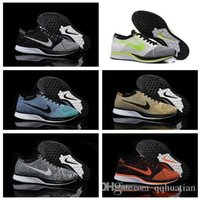 Wholesale Flyknit Racer Running Shoes For Men Women Sport Outdoor Athletic Shoes Breathable Black Blue Red Airmax Tennis Shoes Size