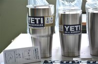 Wholesale 2016 NEW Stainless Steel oz Yeti Cups Cooler YETI Rambler Tumbler Cup Vehicle Beer Mug Double Wall Bilayer Vacuum Insulated ml