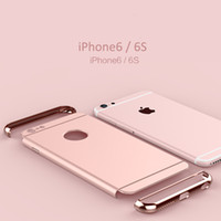 Wholesale Iphone case recommend strong Electroplating Apple luxury fashion unique three stage splicing protection against falling femal favorite