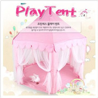Wholesale South Korea Six Large Angle Princess Castle Tulle Children Toy House Large Game Room Selling Mosquito Tent Puzzle Tent Toy