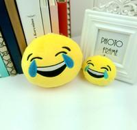 Wholesale 2016 New cm Emoji Smiley QQ Expression Keychains Cute Cartoon Plush Pendant Car Keychains Plush Toys stuffed Puppet toy