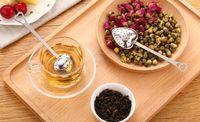 Wholesale High Quality Designer Heart Shape Stainless Steel Tea Infuser Spoon Strainer Steeper Handle Shower Tea Strainer Tool
