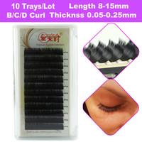Wholesale 10 Trays Eyelash Extension All Sizes D Individual Lashes For Female Soft and Natural Black Korea Silk Mink Lashes False Eyelashes