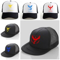 baseball cosplay cap - Hot Baseball Cap Cosplay Hat Team Valor Team Mystic Team Instinct Black Mesh Benn Cap