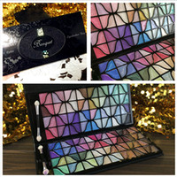 bags evening wear - 2016 Luxury Design Color Eye Shadow Palette with Rose Black Lace Bag Professional Cosmetic Shimmer Makeup Eyeshadow Palette For Evening
