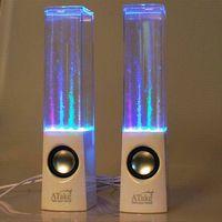 Precio de Fuente de la música llevado-Música superior original Atake un par de altavoz de la fuente del LED Altavoz del baile del agua, mini altavoz del aerosol del agua del USB para el teléfono de la célula, computadora portátil