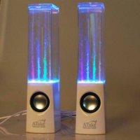 Original Top Music Atake une paire de haut-parleur de fontaine de LED Haut-parleur de danse d'eau, Mini pulvérisateur d'eau d'USB pour le téléphone portable, ordinateur portable