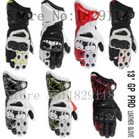alpine gps - 2015 GP PRO Alpine Motorcycle Racing Gloves TOP Leather Motocross Moto Road Race Protection Metal Breathable Printing starGloves
