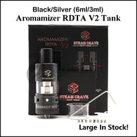100% Original Steam Crave Aromamizer RDTA V2 Atomiseur de réservoir SC201 ss noir 2-post construit-deck Velocity style 3ML 6ML RDA OCC Tanks authentic