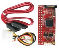 T 10pcs paralelo de 2,5 pulgadas IDE a SATA cable de 7Pin 44P de disco duro HDD conductor Pata convertidor adaptador ATA 100 133 HDD CD Adaptador de DVD