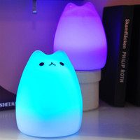Wholesale YouOKLight Rechargeable Color Changeable Silicone LED Sensitive Tap Control Night Light for Home color changing