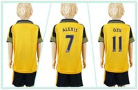 arsenal youth jersey - Customize Uniforms Kit Youth Kids arsenal Ozil Wilshere Alexis Holding Soccer Jersey Away yellow Jerseys