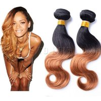 Cheap Peruvian 7A Ombre Remy Hair Body Wave Two Tone Hair Extensions 3pcs Lot Cheap Hot Beauty Human Hair Soft No Shedding