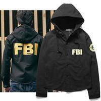 american windbreaker - American Hiphop FBI Letter Print Jacket Coat Couple Tide Brand HBA Men s Hoodies Windbreaker Men New Streetwear