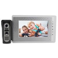 best door intercom - 7 quot Color LCD Wired Intercom Doorbell IR Camera Video Intercom Monitor Door bell Video Door Phone Best F4375B