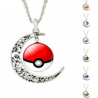 Wholesale Pocket Monster Poke mon Go Charm Necklace Style New Arrival Sweather Jewelry Fashion Poke Ball Chain Necklaces Holder