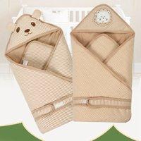 Wholesale Retail x80cm Baby Swaddling Infant Swaddle Newborn Sleeping Bag Blanket Wraps Parisarc Newborn Cotton Envelope Sleepsack VT0354
