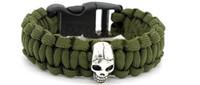 Engineering Materials army bracelets rope - 2016 new outdoor umbrella rope woven bracelet survival bracelet skull