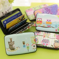 bank stationery - Kawaii Owl Pockets Plastic Box Design Card Cover Bus Bank Id Card Case Holder Creative zakka Stationery Office school supplies