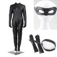 batman catwoman costumes - Popular Superhero Batman The Dark Knight Rises Selina Kyle Catwoman Cosplay Costume Unisex Halloween Jumpsuits Chrismas