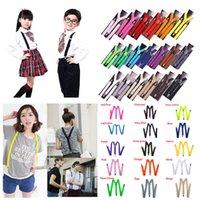 Wholesale 15 Colors Unisex Men Women Child Kids Clip on Suspenders Elastic Y Shape Adjustable Braces
