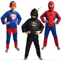 Wholesale New halloween costume for kids baby superhero spiderman superman cosplay carnival costume child accessories for Baby kids Clothing
