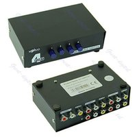 av video switcher - J34 Port Input Output Audio Video AV RCA Switch Switcher Selector Box New