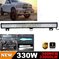 bars pickup - 30Inch W Combo CREE LED LIGHT BAR FLOOD SPOT lm Pure White daylight USA Free Ship For OFFROAD PICKUP SUV UTE TRUCK