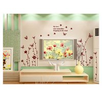 Cheap Removable PVC Wallstickers Butterfly Shaped Wall Stickers for Decorating Model Tiny Art Wall Decals for Bedroom Home Decoration 60 * 90cm