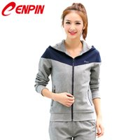 Wholesale Sport suit female couples sport suit outdoor workout clothes running clothing take sport suit jacket on a hike