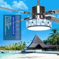 Wholesale LED fan ceiling fan light dining room Mediterranean home lighting electric fan bedroom modern minimalist Chandelier