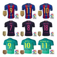barcelona club football - Plus Size XL Barcelona Jerseys Club World Cup rd MESSI Neymar A INIESTA SUAREZ I RAKITIC soccer football shirts camisetas de