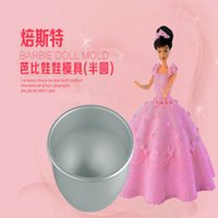 baking delivery - 6 inch deep baking mold cup semicircle cake mold with Bobbi Doll Princess Birthday cake Mold With Box Doll random delivery