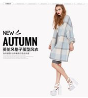Wholesale Europe and the United States will winter New England style sub cocoon type single breasted windbreaker style sweater coat bag mail