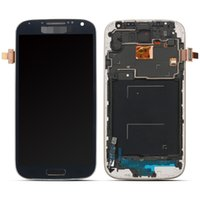 Wholesale For Samsung Galaxy SIV S4 i9500 i9505 i337 Sales LCD Display Digitizer Touch Screen Frame DHL