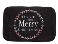 bath mat black - 40 cm Black Christmas Bath Mats Anti Slip Rugs Coral Fleece Carpet For For Bathroom Bedroom Doormat Online